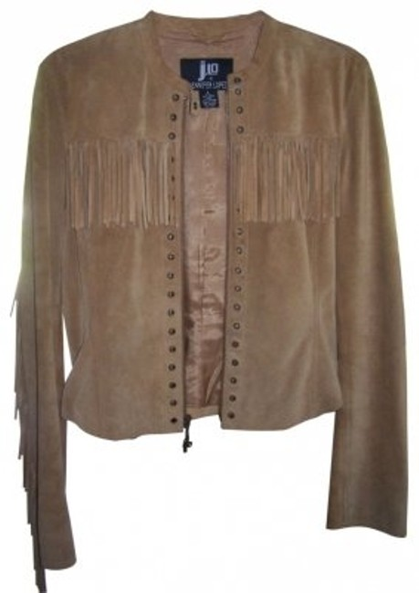 JLo Light Brown suede Jacket