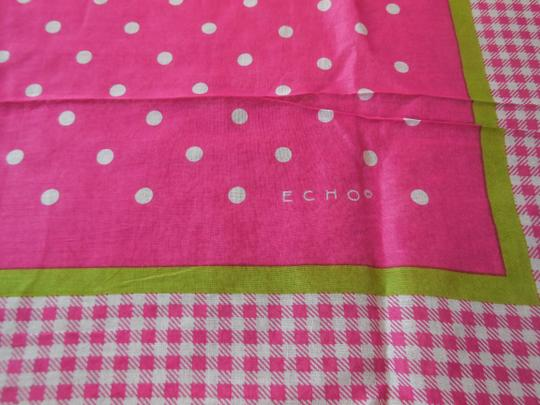 Echo Pink with Polka Dots Cotton Scarf by Echo