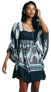 Free People short dress indigo Vintage Hippie Boho on Tradesy