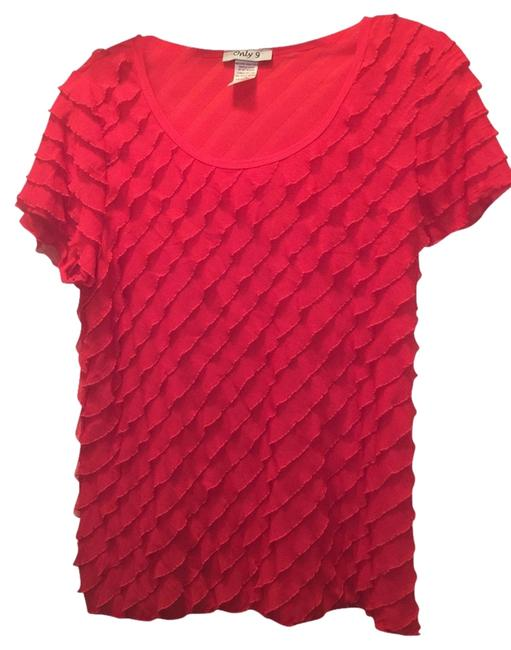 Only 9 T Shirt Lipstick Red