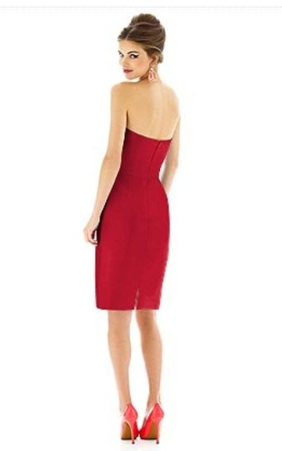 Alfred Sung Cocktail Length Strapless With Tags Dress