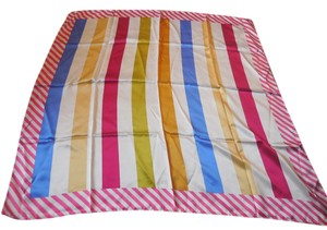 Other Elsa Schiaparelli Striped Silk Scarf
