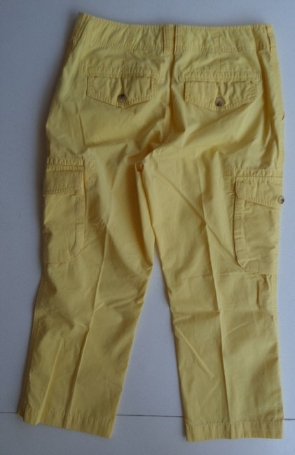 American Living Cropped Pants Capris Yellow
