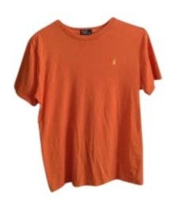 Polo Ralph Lauren T Shirt Orange w/ Yellow Logo