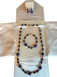 VENETIAN ARTIST FULL SET: NEW ITALIAN VENETIAN BEAD NECKLACE, EARRINGS AND BRACELET