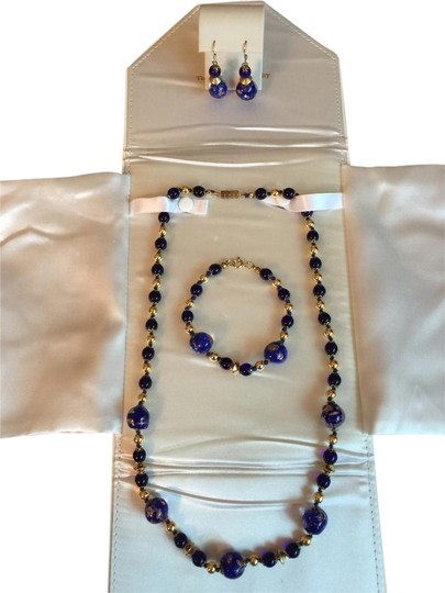 VENETIAN ARTIST IMAGINE--FULL SET--NEW--VENETIAN BEAD NECKLACE, EARRINGS AND BRACELET