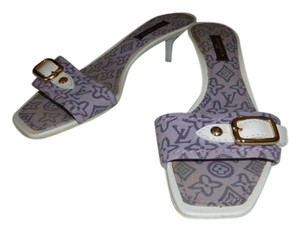 Louis Vuitton WHITE & LILAC Mules