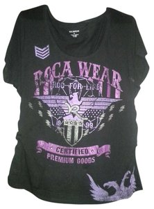 Rocawear Plus Size T Shirt Black and Purple