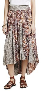 Free People Hippie Boho Maxi Skirt sand