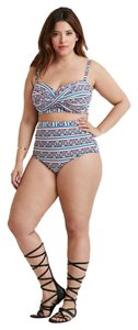 Forever 21 Forever 21 Plus Southwestern Twist Front High Waisted Bikini Set 1x