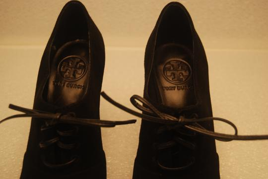 Tory Burch Leather Suede Size 7 Size 7.5 Black Boots