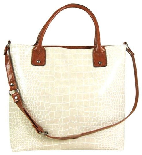 Preload https://item5.tradesy.com/images/carmen-shopper-ivory-crocodile-vegan-faux-leather-shoulder-bag-359039-0-0.jpg?width=440&height=440