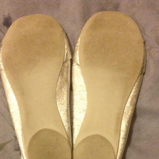 Aldo Shoes Silver Metallic Flats