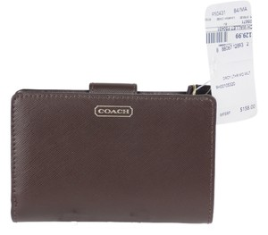 Coach * Coach F50431 Mahogany Darcy Saffiano Leather Wallet