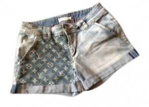 Other Cuffed Shorts Jean with LV front Panel