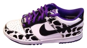 Nike Kicks Sneakers Designer Dunks Black / White / Cadbury Purple Athletic