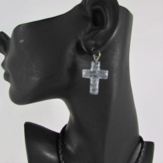 Other Women Necklace Earring Fashion Love Hope Faith Silver Cross Pendant