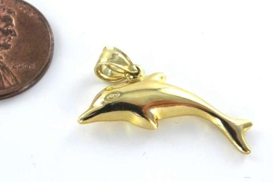 Other 14KT YELLOW GOLD PENDANT DOLPHIN O.6DWT 3D 26MM CHARM KARAT FINE JEWELRY JEWEL karat