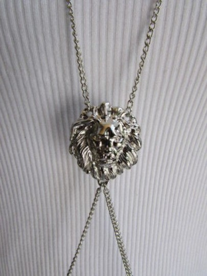 Other Women Necklace Fashion Silver Elegant Chains Body Jewelry Lions Face Long