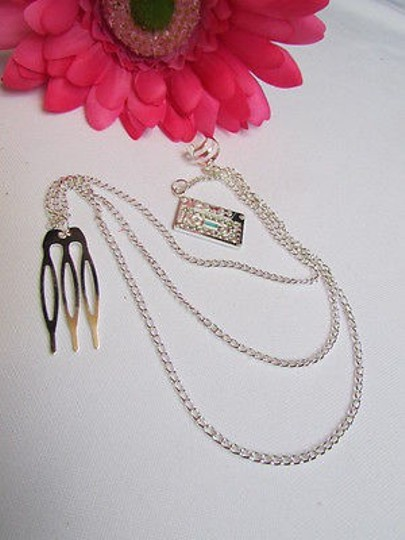 Other Women Cuff Earring Fashion Silver Cassette Metal Multi Chains Hair Pin Connected