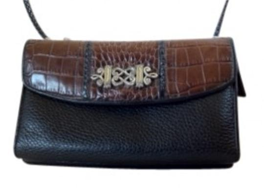 Preload https://item2.tradesy.com/images/brighton-convertible-black-and-brown-leather-clutch-35936-0-0.jpg?width=440&height=440
