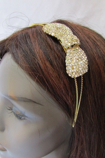 Preload https://item2.tradesy.com/images/women-headband-hair-thin-gold-metal-fashion-big-bow-rhinestones-accesories-3593686-0-0.jpg?width=440&height=440