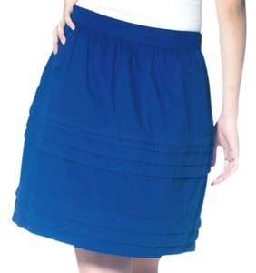 Tulle Structured High Waist Tiered Skirt blue