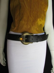 Other Women Belt Fashion Hip Waist Moroccan Buckle Black Orange Beads 36-40