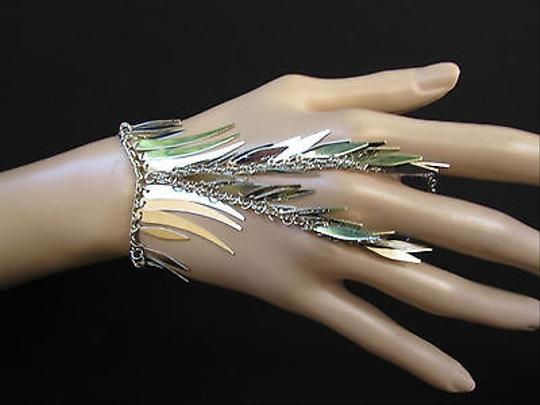 Other Women Bracelet Fashion Silver Chains Leaves Metal Hand Slave Connected Spike