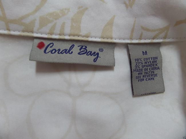 Coral Bay White with Beige Floral Print Jacket