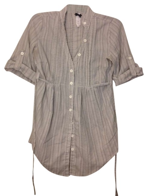 Preload https://item4.tradesy.com/images/ashley-by-26-international-grey-and-white-striped-maternity-button-down-top-size-2-xs-26-359393-0-0.jpg?width=400&height=650
