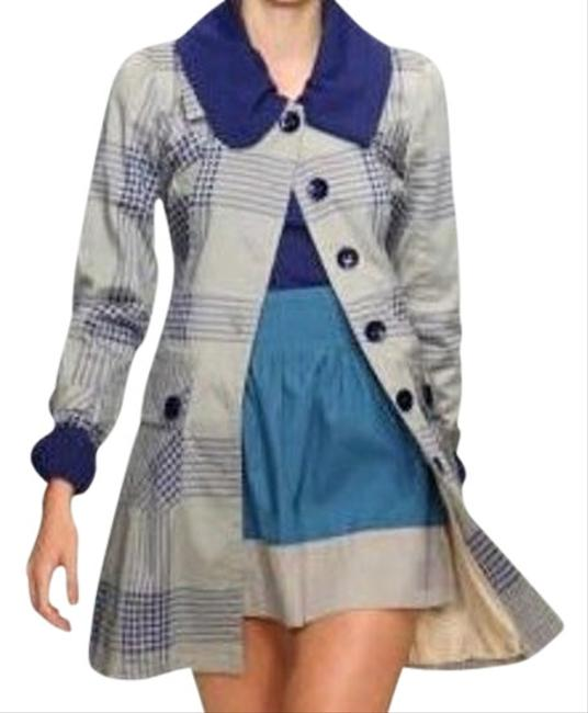 Tulle Star-studded Color-blocking A-line High Waist Small Medium Large Extra Large Mini Skirt blue gray