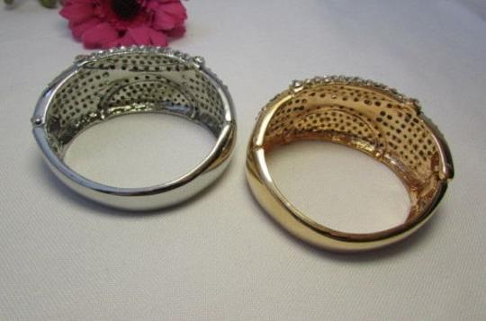 Other Women Bracelet Retro Fashion Gold Silver Jewelry Multi Rhinestones Cuff