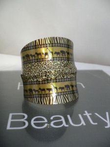 Other Women Cuff African Zebra Gold Giraffe Elephant Lion Prints Adjustable