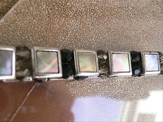 Other Trendy Women Men Bracelet Fashion Elastic Silver Black Brown Beads Square