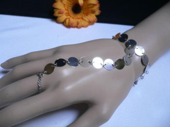 Preload https://item3.tradesy.com/images/women-bracelet-fashion-silver-circles-hand-links-chain-slave-wrist-to-ring-3594127-0-0.jpg?width=440&height=440