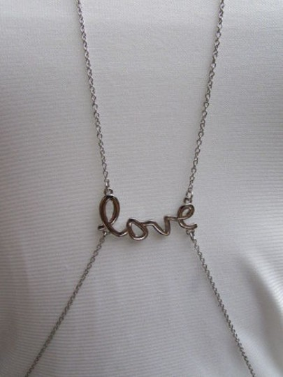 Other Women Necklace Love Silver Elegant Body Jewelry Chain Long Pendant