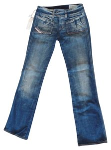 Diesel Hush Denim 24 X 30 Boot Cut Jeans-Distressed