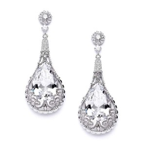 Mariell Bold Cz Wedding Earrings