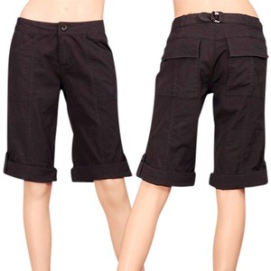 Tulle Star-studded Size 0 Cargo Chino Bermuda Shorts black