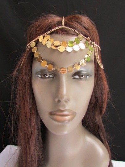 Other Women Head Chain Fashion Gold Falling Rain Jewelry Round Sparkling Drops