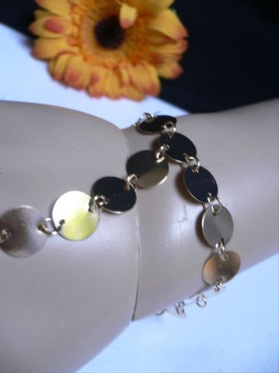 Other Women Bracelet Slave Fashion Gold Circles Hand Links Chain Wrist To Ring