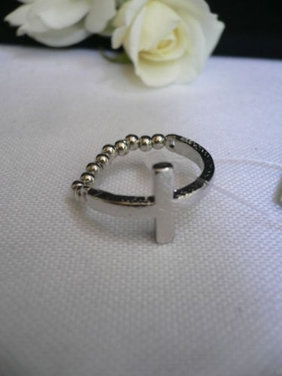 Other Women Ring Fashion Silver Metal Cross Elastic Basketball Wives Style