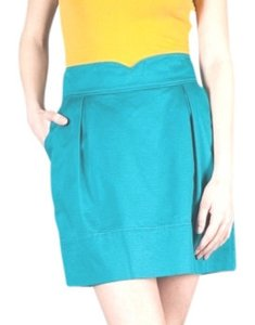 Tulle Star-studded High Waist Mini Skirt teal