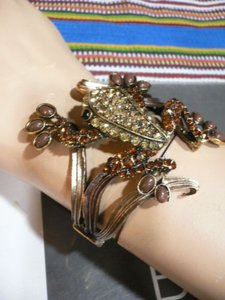 Other Women Bracelet Fashion Gold Brown Metal Frog Silver Bronze Brown Rhinestones