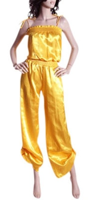 Item - Yellow L Smocked Satin Size(S) S Or Romper/Jumpsuit