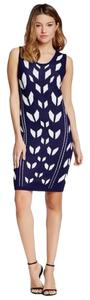 Romeo & Juliet Couture short dress Navy Knit Sleeveless Eclectic Fitted Elastic on Tradesy