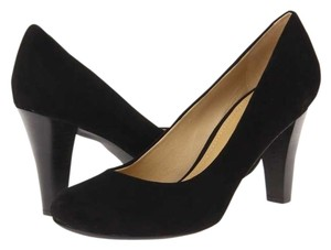 Geox Suede Leather Footbed Leather Black Pumps