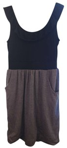Anthropologie short dress Black/Gray on Tradesy