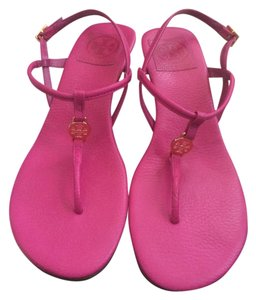 Tory Burch Leather Good Condition Pink Sandals